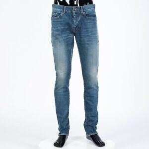 SAINT-LAURENT-PARIS-750-Skinny-Jeans-In-Dirty-Blue-Stretch-Denim