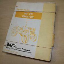 Mf Massey Ferguson 30 Tractor Parts Manual Book Catalog Spare Wheel Farm List
