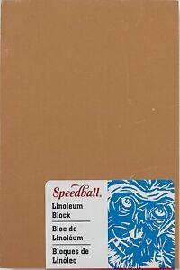 9 x 12 Inches Smokey Tan Speedball Art Print Unmounted Linoleum