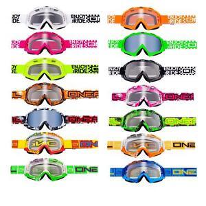O-039-Neal-B-FLEX-chiaramente-MX-Goggle-Motocross-Occhiali-moto-Downhill-Mountain-Bike-DH