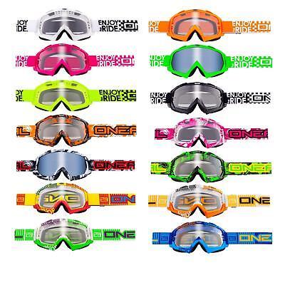 Capace Oneal B Flex Klar Mx Goggle Moto Cross Brille Motorrad Downhill Mountainbike Dh