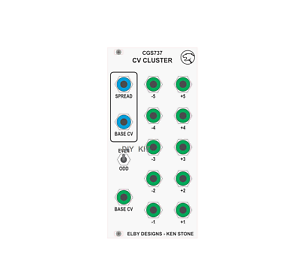 ELBY-DESIGNS-CGS737-CV-CLUSTER-MIXER-EURORACK-SYNTHESIZER-DIY-KIT
