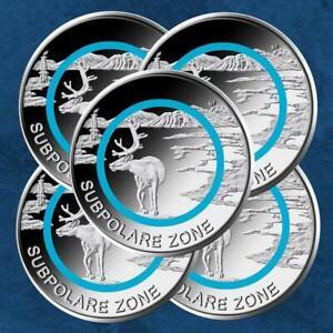 Deutschland - Subpolare Zone - 5 x 5 Euro 2020 unc. - Polymerring - ADFGJ