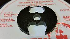 Bespoke bate en forma de 45 RPM vinyl record Adaptador para centro agujero del husillo.