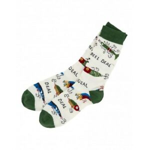 Hatley-Crew-Socks-MENS-Medium-FISHING-LURES-Reel-Deal-Fisherman