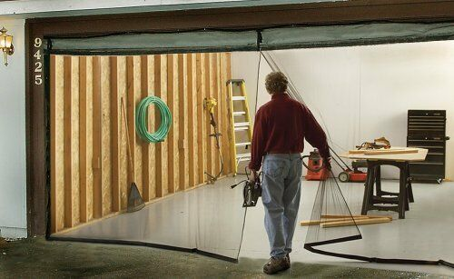 Instant Garage Screen Door - Secure & Keeps Out Insects and Pests Double