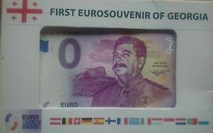 SALE 0 Euro Souvenir Banknote 2018 GEORGIA GORI STALIN 140th Birth Anniversary