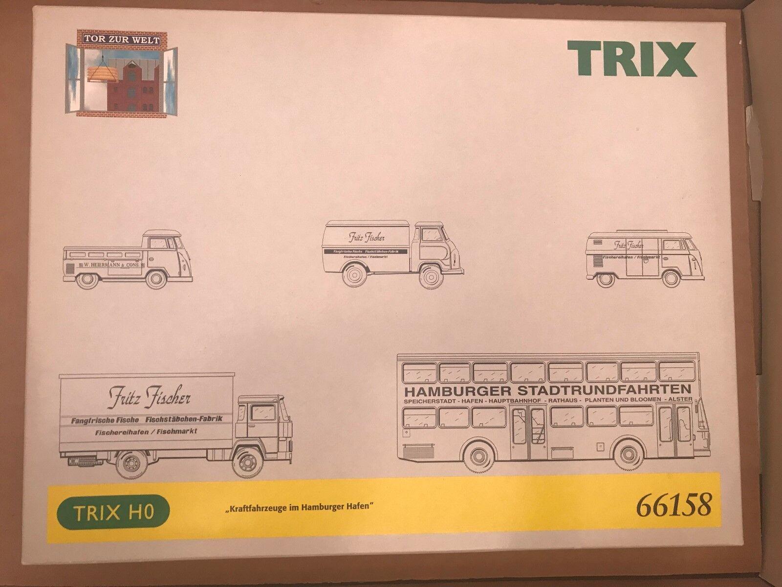 Trix Spur H0 66158  Kaftfahrzeuge im Hamburger Hafen     NEU  OVP  | Zuverlässige Leistung  dd7c97