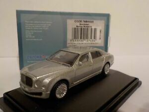 Model-Car-Bentley-Mulsanne-Silver-1-76-New