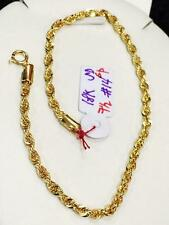 SOLID 18K Saudi Gold Chain Bracelet - 7.5 inches / 1.4 g