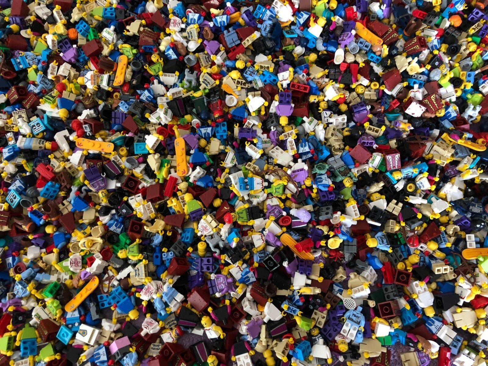 Lego piezas y accesorios de 4 libras Minifigura Niño Niña Ciudad City Serie