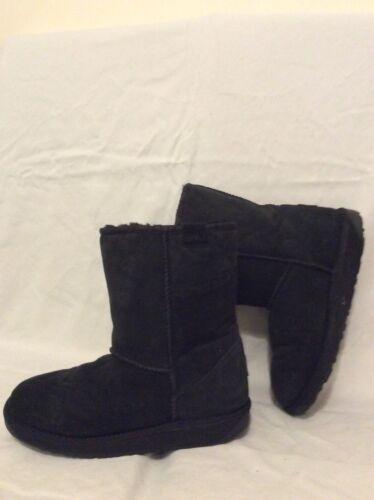 Black Stiefel in Mid Australische Calf Größe 7 Lammfell Emu Bp6qZOww