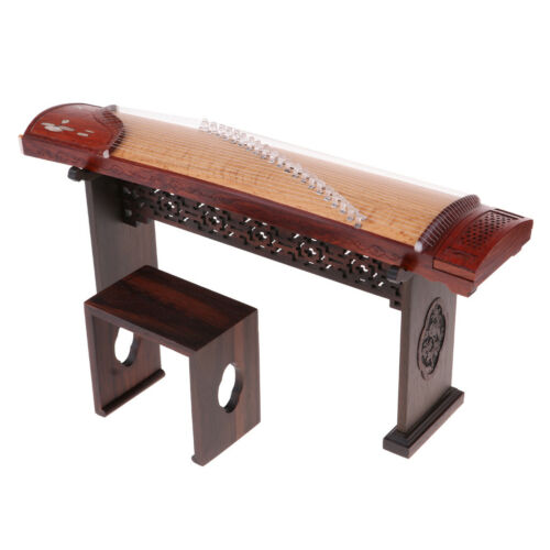 Miniature Chinese Zither Guzheng Model Replica Hobby Collectibles 1//6 Scale