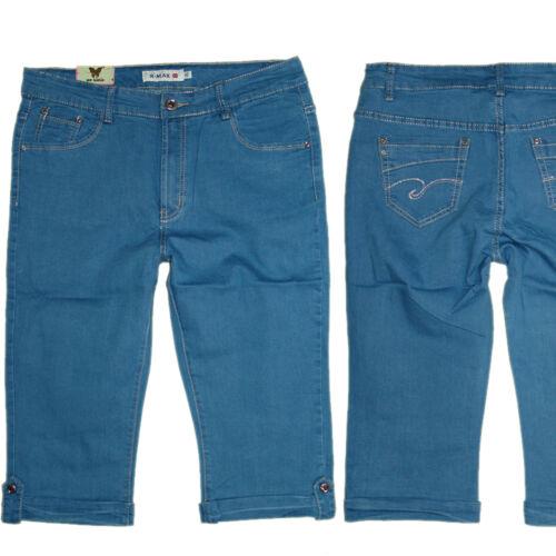 Donna Capri 3//4 stretchjeans Jeans Pantaloni donna Jeans tg 44-50//52 w34-w41 #x-302