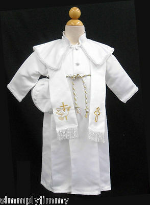 S1 Baby Boy Toddler Christening Baptism Communion Gown 0 to 30 months gold
