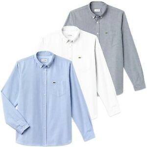 f91b266f3496f4 Image is loading Lacoste-Shirt-Lacoste-CH4976-Cotton-Oxford-shirt-Navy-