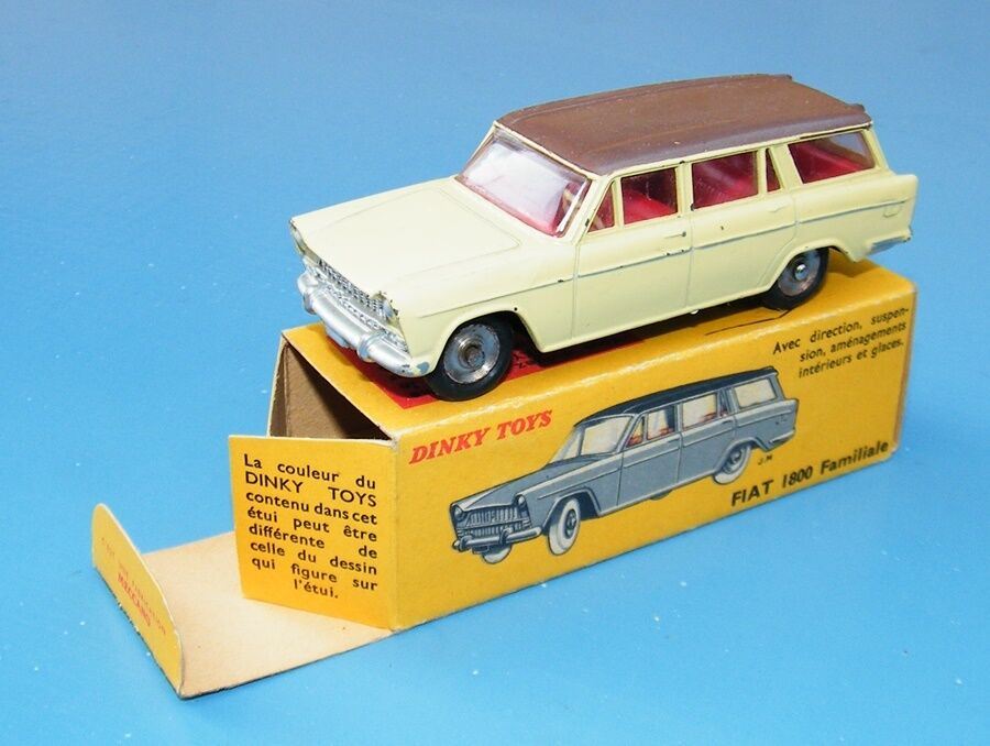 French Dinky Toys No.548 Fiat 1800 Familiale Cream Pusha Pink Original Boxed EX+