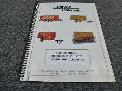 250 3T Q/&U Gas /& Diesel Operator/'s Parts  Manual Sullivan 125Q U 175Q U 185Q U