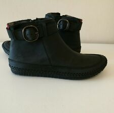 CLARKS African Scent Black Leather Women's  Ankle Boots UK 5/ EU 38/US 7.5