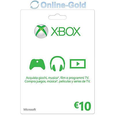 10 EUR - Carta regalo Xbox Codice digitale €10 Euro prepagato Xbox One 360 - IT