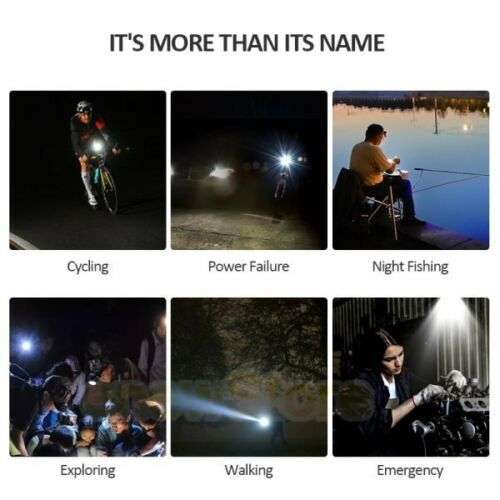 MTB Road Bike Cycling Front Light Bicycle Bright LED USB Rechargeable Headlight