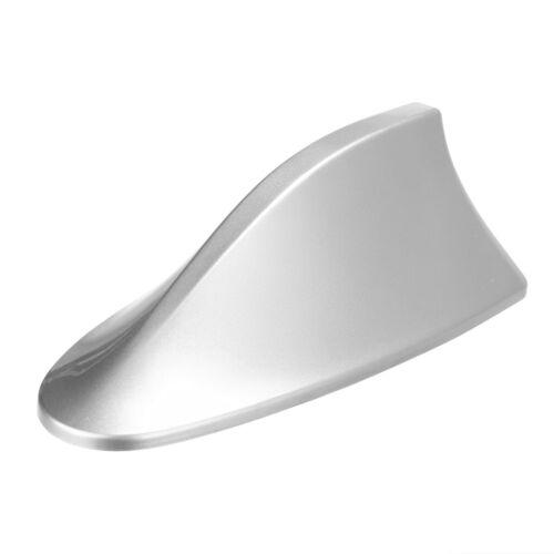 Silver Universal Car Auto Shark Fin Roof Antenna Radio FM//AM Decorate Aerial