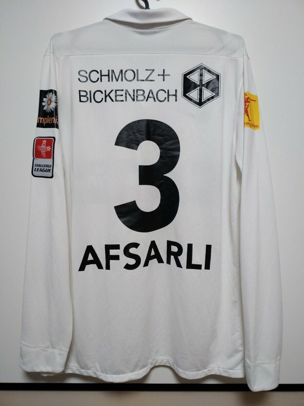 Größe L FC WIL MATCH ISSUE HOME FOOTBALL SHIRT JERSEY BERKAN AFSARLI  12