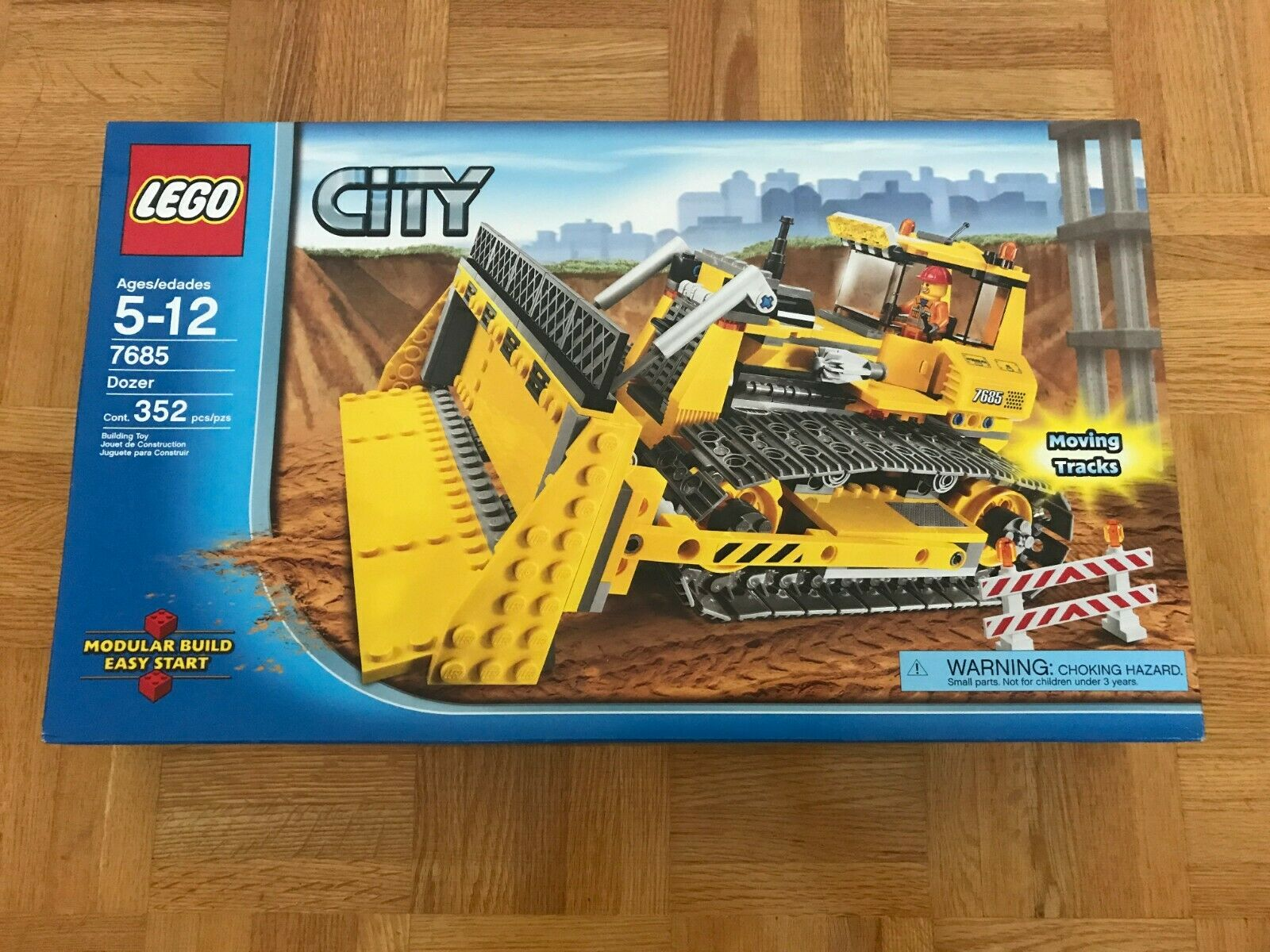 Lego Set  7685 Lego City Dozer-Brand nouveau,  Sealed, Excellent Box Condition  se hâta de voir