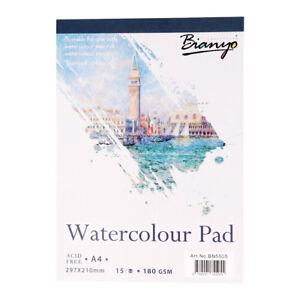 Watercolor-Painting-Paper-Pad-Art-Drawing-Paper-Sketchbook-15-Sheets-A4-Size