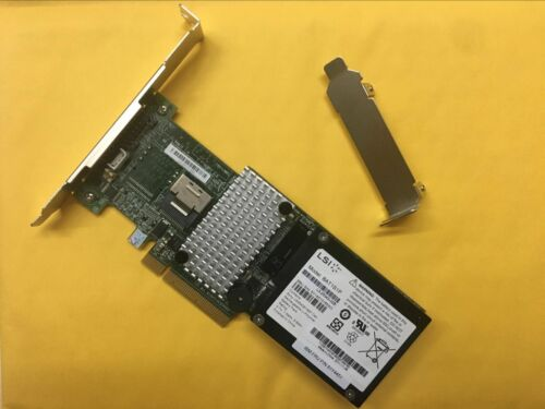 LSI MegaRAID L3-25121-86B 4 Port SATA SAS RAID Controller Card 9260-4i Battery