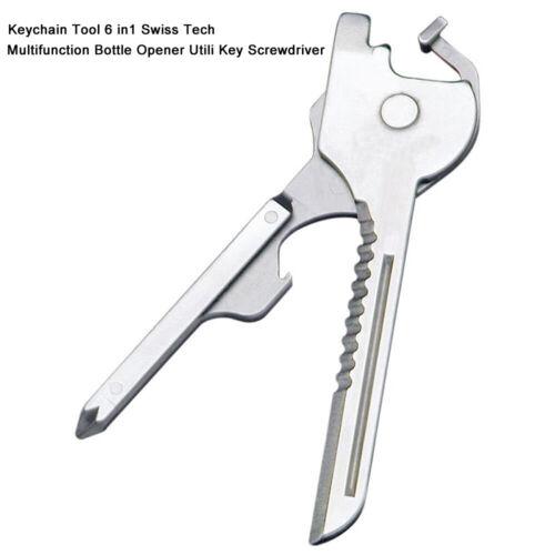 1*Keychain Tool 6 in1 Swiss Tech multi-tool Bottle Opener Utili Key Screwdriver