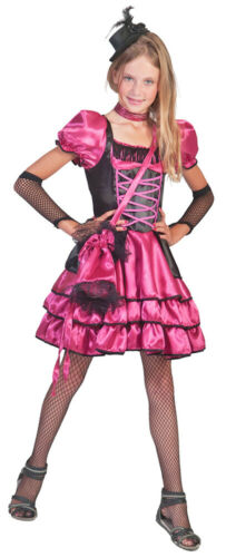 Can Can Girl Kinder Kostüm Pink Wilder Westen Cowgirl Cowboy Gr 116 128 /%SALE/%