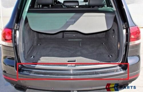 NEW GENUINE VW TOUAREG 03-10 REAR BUMPER UPPER CHROME TRIM MOLDING 7L6807787 8Z8