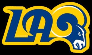 Los Angeles Rams - L.A. Rams logo with Ram Head in Blue ...