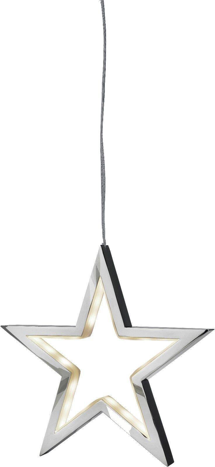 72170 Sompex Suspendu Lampe Lucy, Chrome 34 cm Lampe Argent étoile à pendre
