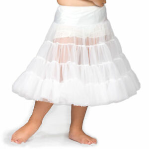Girls-White-Bouffant-Half-Slip-Petticoat-Tea-Length-2T-12