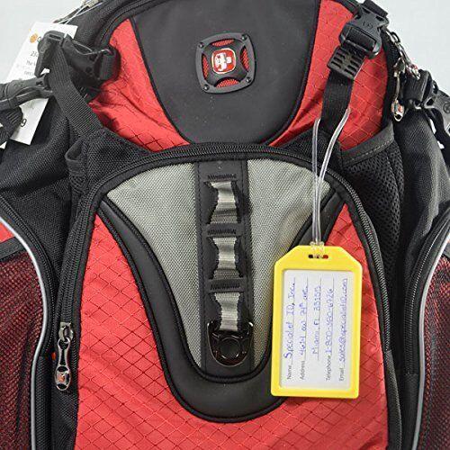 A granel paquete de 100-Bolsa de identificación de equipaje aerolínea pesado deber los titulares de etiqueta con bucles de plástico
