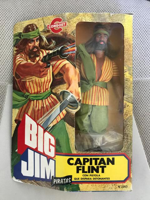 MIB MIB MIB MOC NEW BIG JIM  MATTEL CAPTAIN FLINT PIRATES CONGOST e996a8