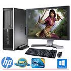 HP Desktop Computer PC Core 2 Duo Windows 10 4GB 160GB HD 19