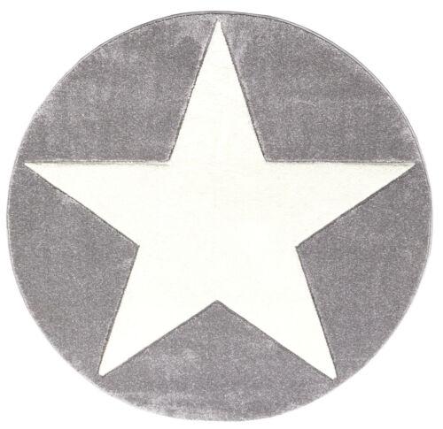 Enfants Tapis-Tapis rond avec une grande étoile dans différentes tailles