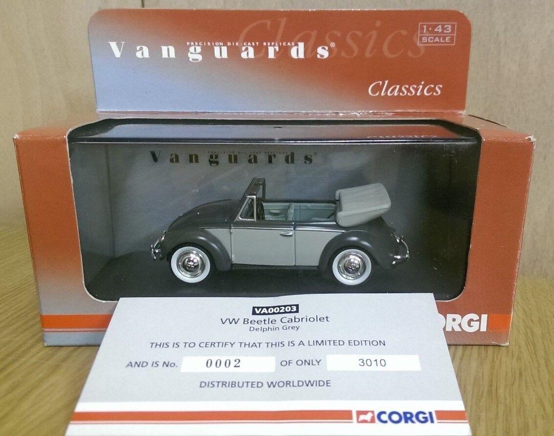Corgi VA00203 VW Beetle Cabriolet Delphin Grey Ltd Ed. No. 0002 of 3010