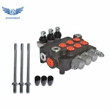 New Listing3 Spool Hydraulic Monoblock Double Acting Control Valve 21 Gpm Sae Ports