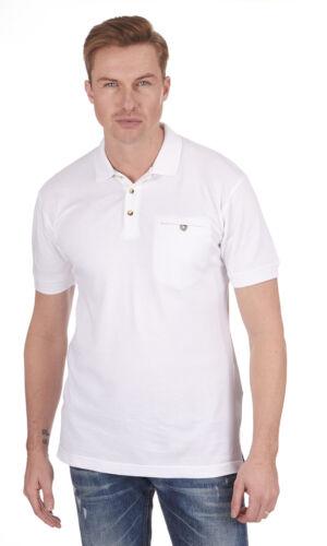 Hommes Uni Coton Polo Piqué avec poche ~ Petit jusqu/'à 5XL