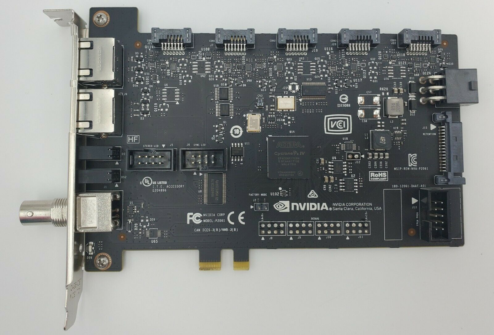 *USED* HPQuadro Sync II Board 1WT20AA for Pascal Graphics Cards with cables