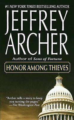 HONOR AMONG THIEVES by Jeffrey Archer FREE SHIPPING paperback book suspense CIA