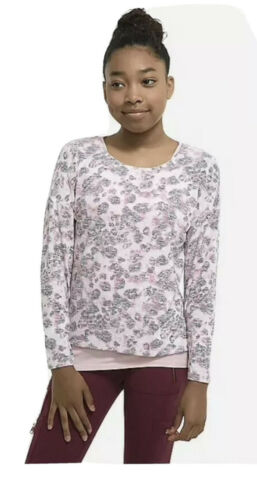 Details about  /Nwt Justice Leopard Pattern 2 Fer Long Sleeve Top Size 8 Top