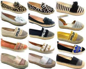 New-Women-Lady-Flat-Loafers-Leopard-Print-Espadrilles-Super-Comfy-walking-shoes