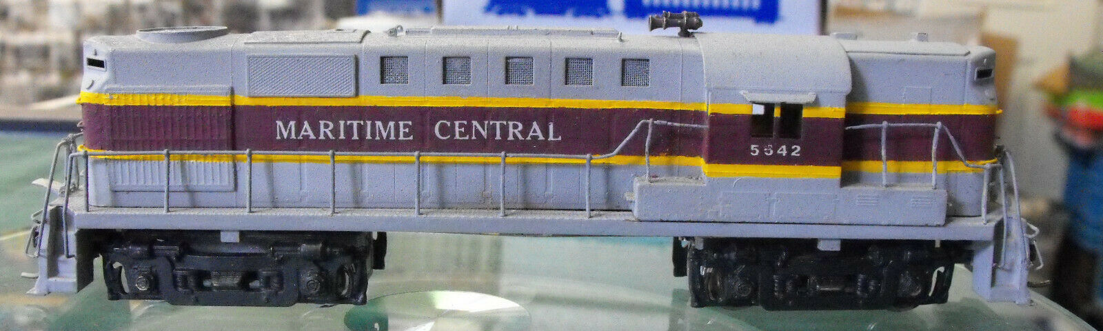 HO Scale Meritime Central Painted BRASS Locomotive