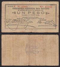 Méjico - Mexico 1 Peso  10-12-1913  Pick S 553a   BC/BC+ = VF/VF+