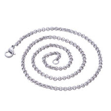Stainless Steel 24 Inch(60 cm) 3mm Ball Tiny Rolo Neck Chain Necklace